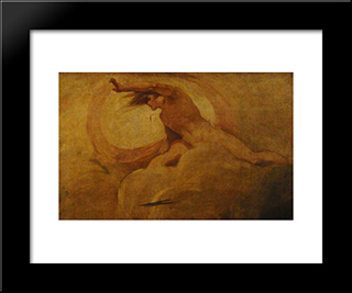 Ariel: Modern Black Framed Art Print by George Romney