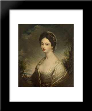 Betsy Hodges (D.1772), Second Wife Of Philip Champion De Crespigny: Modern Black Framed Art Print by George Romney