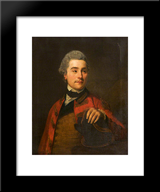 Captain John Joseph Vernon, 3Rd Dragoon Guards: Modern Black Framed Art Print by George Romney