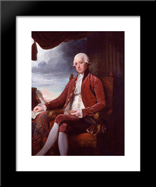 Charles Jenkinson, 1St Earl Of Liverpool: Modern Black Framed Art Print by George Romney