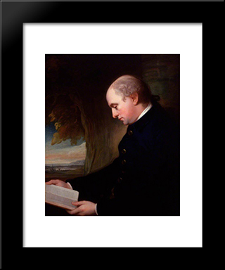 Charles Lennox, 3Rd Duke Of Richmond And Lennox: Modern Black Framed Art Print by George Romney