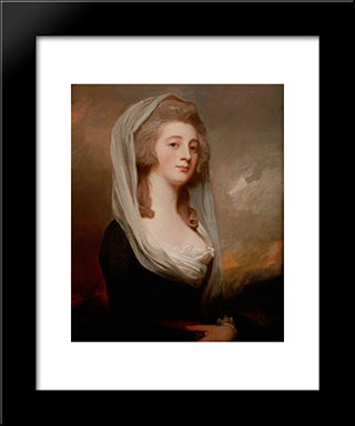Charlotte Gunning, Later Mrs Stephen Digby: Modern Black Framed Art Print by George Romney