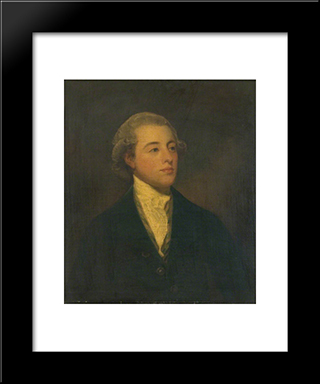 Colonel James Lowther As A Young Man: Modern Black Framed Art Print by George Romney