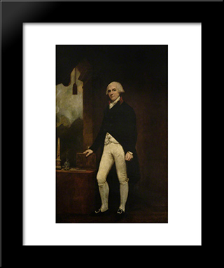 David Scott, Mp, Of Dunninald: Modern Black Framed Art Print by George Romney