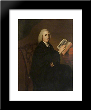 Dr Scales: Modern Black Framed Art Print by George Romney