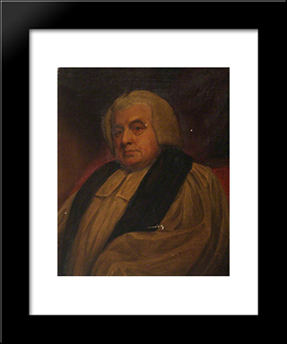Edward Smallwell, Bishop Of Oxford: Modern Black Framed Art Print by George Romney