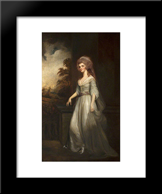 Eleanor (D.1856), Countess Of Lauderdale: Modern Black Framed Art Print by George Romney