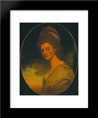 Elizabeth, Countess Of Craven, Later Margravine Of Anspach: Modern Black Framed Art Print by George Romney