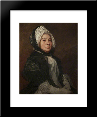 Esther Taubman, Nee Christian: Modern Black Framed Art Print by George Romney