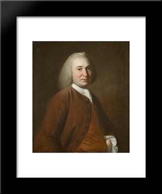 Hugh Holme, Deputy Recorder Of Kendal: Modern Black Framed Art Print by George Romney