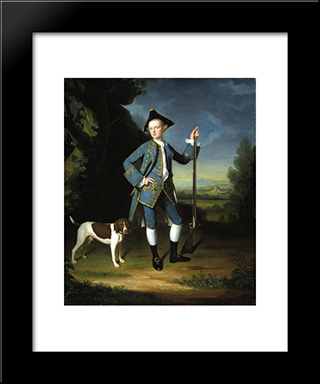 Jacob Morland Of Capplethwaite: Modern Black Framed Art Print by George Romney