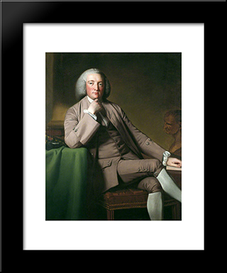 James Ainslie: Modern Black Framed Art Print by George Romney