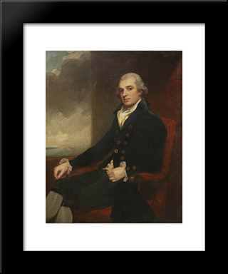 James Farrer: Modern Black Framed Art Print by George Romney