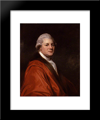 James Macpherson: Modern Black Framed Art Print by George Romney