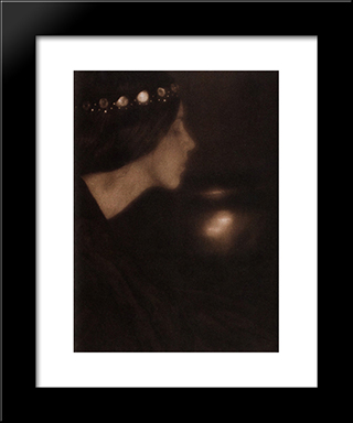 Black Bowl: Modern Black Framed Art Print by George Seeley