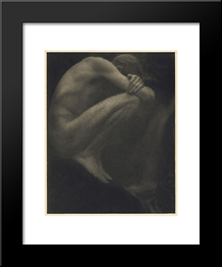 Nude - The Pool: Modern Black Framed Art Print by George Seeley