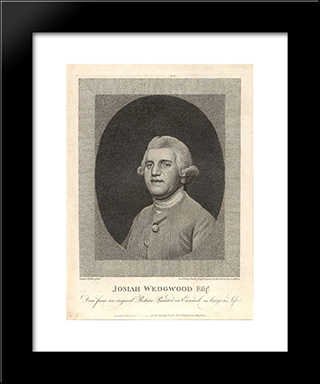 Josiah Wedgwood: Modern Black Framed Art Print by George Stubbs