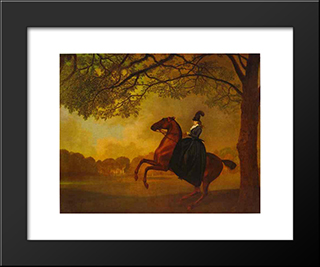 Laetitia, Lady Lade: Modern Black Framed Art Print by George Stubbs