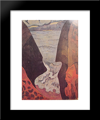 Cliffs Near Camaret: Modern Black Framed Art Print by Georges Lacombe