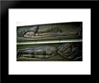 Death: Modern Black Framed Art Print by Georges Lacombe