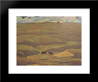 Rams Blacks, The Year: Modern Black Framed Art Print by Georges Lacombe