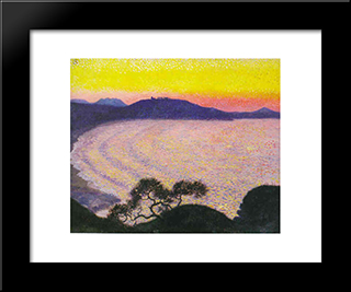 Some Waves: Modern Black Framed Art Print by Georges Lacombe