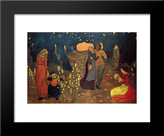 The Ages Of Life: Modern Black Framed Art Print by Georges Lacombe