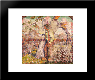 The Apple Picker: Modern Black Framed Art Print by Georges Lacombe
