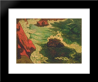 The Gray Sea: Modern Black Framed Art Print by Georges Lacombe