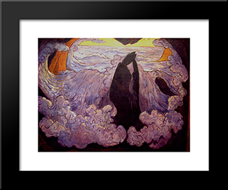 The Violet Wave: Modern Black Framed Art Print by Georges Lacombe
