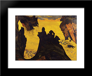Yellow Sea: Modern Black Framed Art Print by Georges Lacombe