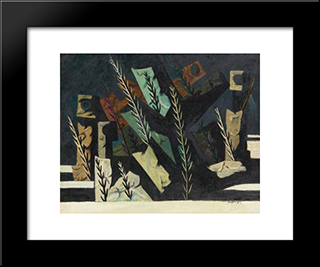 Au Clair De Lune: Modern Black Framed Art Print by Georges Papazoff