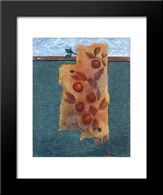Avant Le Festin: Modern Black Framed Art Print by Georges Papazoff