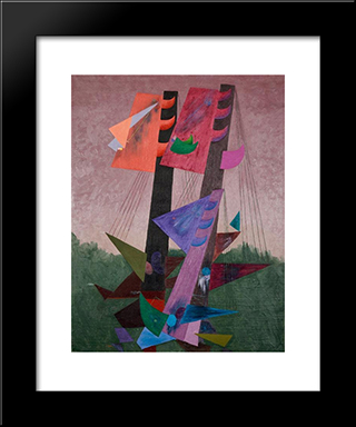 Composition Aux Mats: Modern Black Framed Art Print by Georges Papazoff