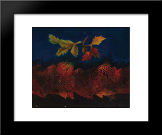 Feuilles Mortes: Modern Black Framed Art Print by Georges Papazoff