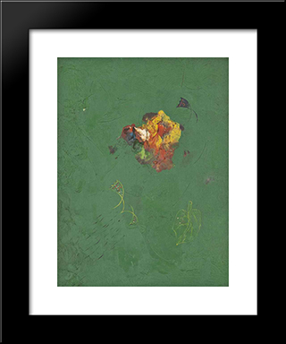 Flower: Modern Black Framed Art Print by Georges Papazoff