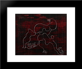 Les Baigneuses: Modern Black Framed Art Print by Georges Papazoff