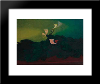 Papillons: Modern Black Framed Art Print by Georges Papazoff