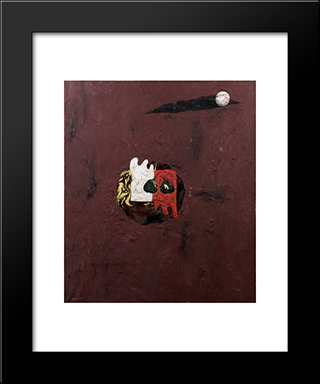 Red Glove And White Glove: Modern Black Framed Art Print by Georges Papazoff