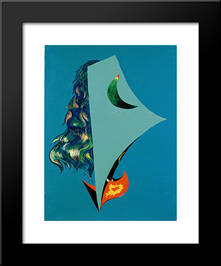 Surrealist Composition: Modern Black Framed Art Print by Georges Papazoff