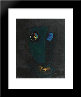 Tete: Modern Black Framed Art Print by Georges Papazoff