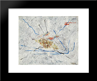 The Sea: Modern Black Framed Art Print by Georges Papazoff