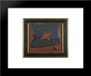 Untitled: Modern Black Framed Art Print by Georges Papazoff