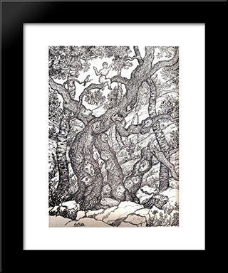 Untitled (Forest): Modern Black Framed Art Print by Georges Ribemont Dessaignes