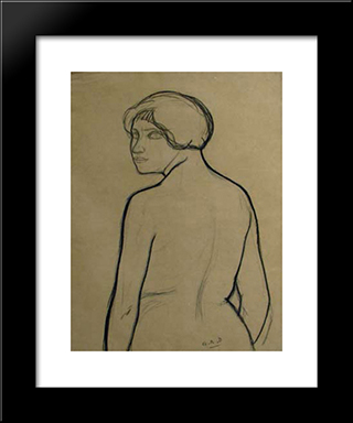 Untitled (Portrait): Modern Black Framed Art Print by Georges Ribemont Dessaignes