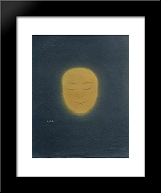 Untitled (Sun Face): Modern Black Framed Art Print by Georges Ribemont Dessaignes
