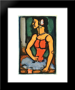 Bittersweet: Modern Black Framed Art Print by Georges Rouault