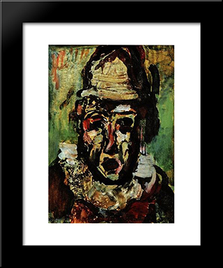 Clown Tragique: Modern Black Framed Art Print by Georges Rouault
