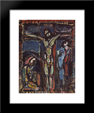 Crucifixion: Modern Black Framed Art Print by Georges Rouault