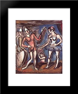 La Parade: Modern Black Framed Art Print by Georges Rouault